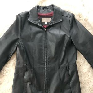 Croft and barrow Leather Jacket